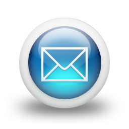 7 Blue Mail Icon Images.