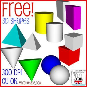 FREE! 3D Shape Clip Art Images.