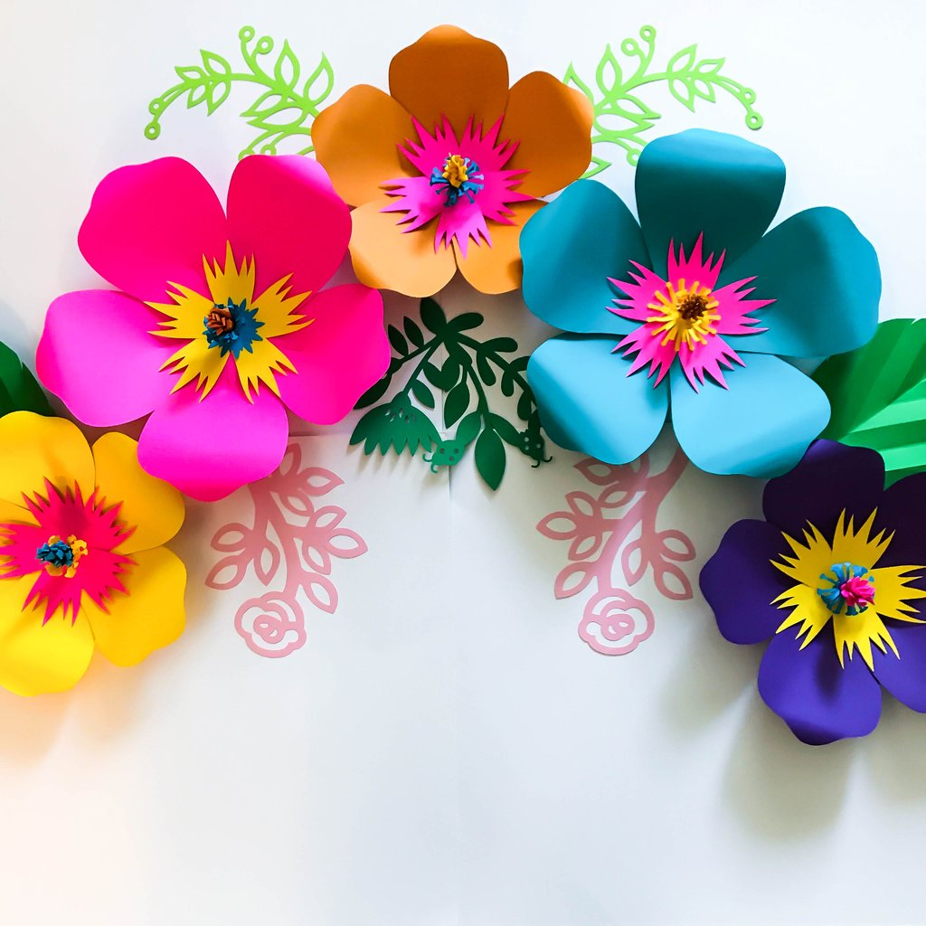 PDF Petal 101 Paper Flower Template/Printable/Trace and Cut.