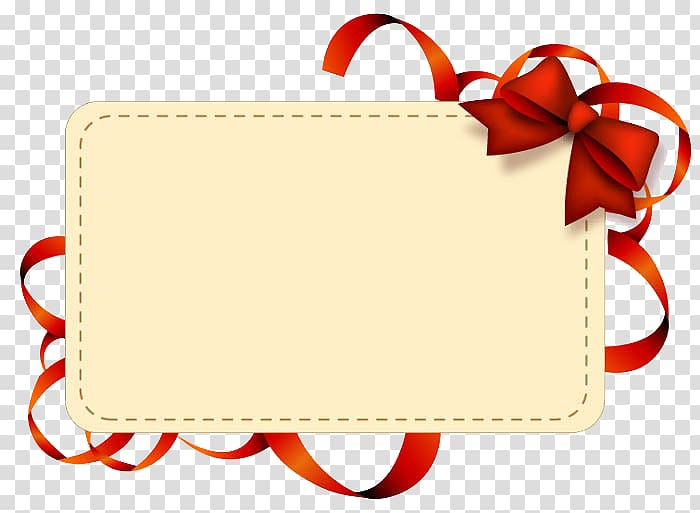 White letter card , Paper Ribbon Label , A gift card.