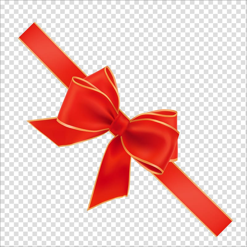 Red and gold ribbon, Red ribbon Sticker, ribbon transparent.