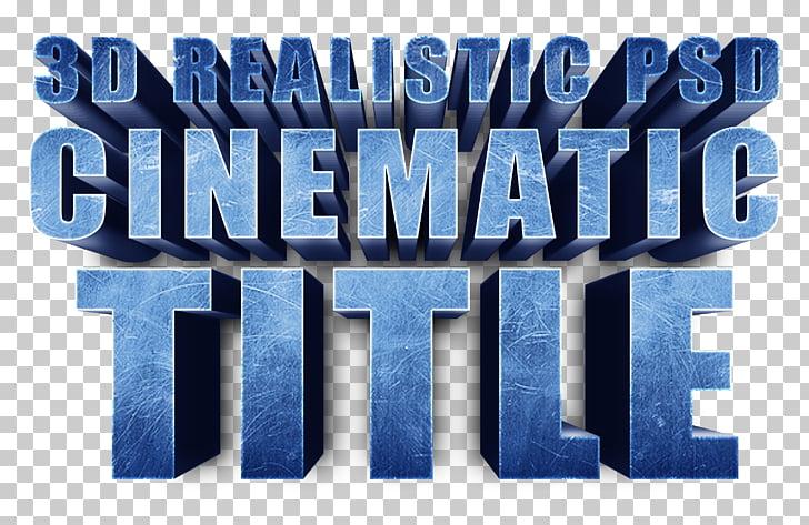 Brand Logo Blue Font, 3D Fonts PNG clipart.