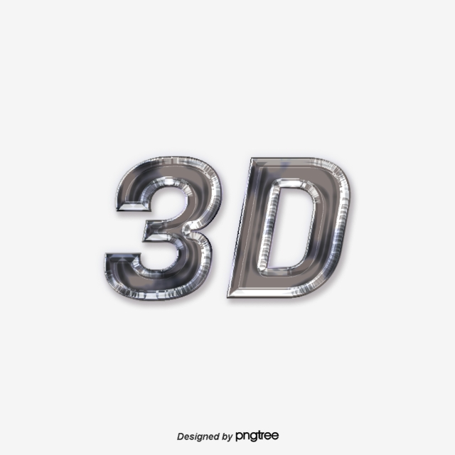 Gray Metal 3d Font Design Art Font For Free Download.