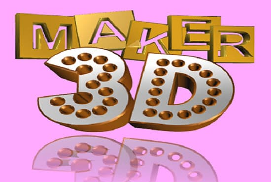 Make a 3d logo for you by Nayan1999.