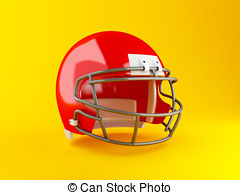 3d red american football helmet Illustrations and Stock Art.