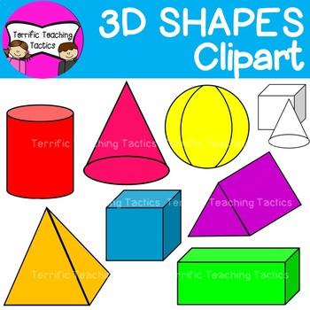 3D Shapes Clip Art (Geometry/Solids).