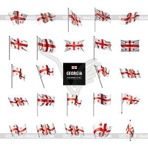 Georgia flag,.