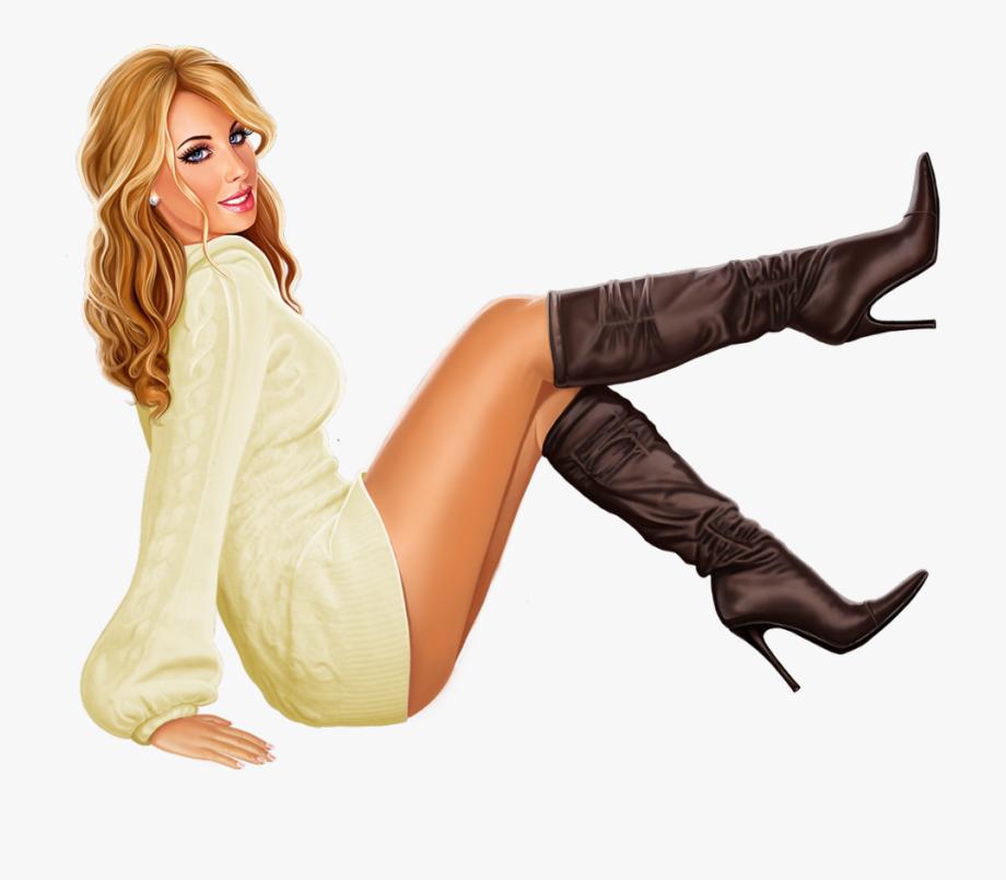 3d Girl, Girly Girl, Girls 4, Knee Boots, Pinup, Tube,.