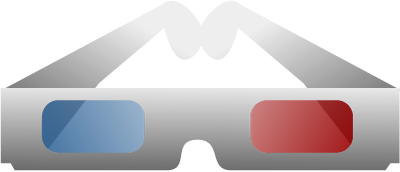 3D Glasses Clip Art.