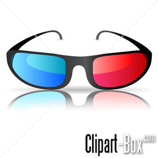 CLIPART CINEMA 3D GLASSES.