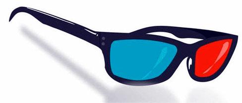 3d glasses clipart.