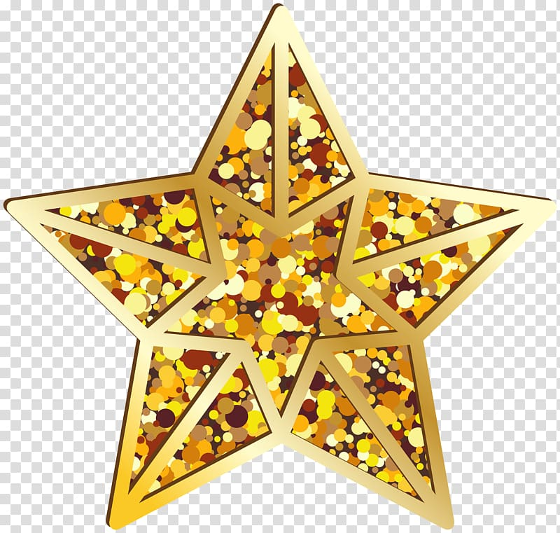 Gold star , 3D computer graphics , Star Gold transparent.