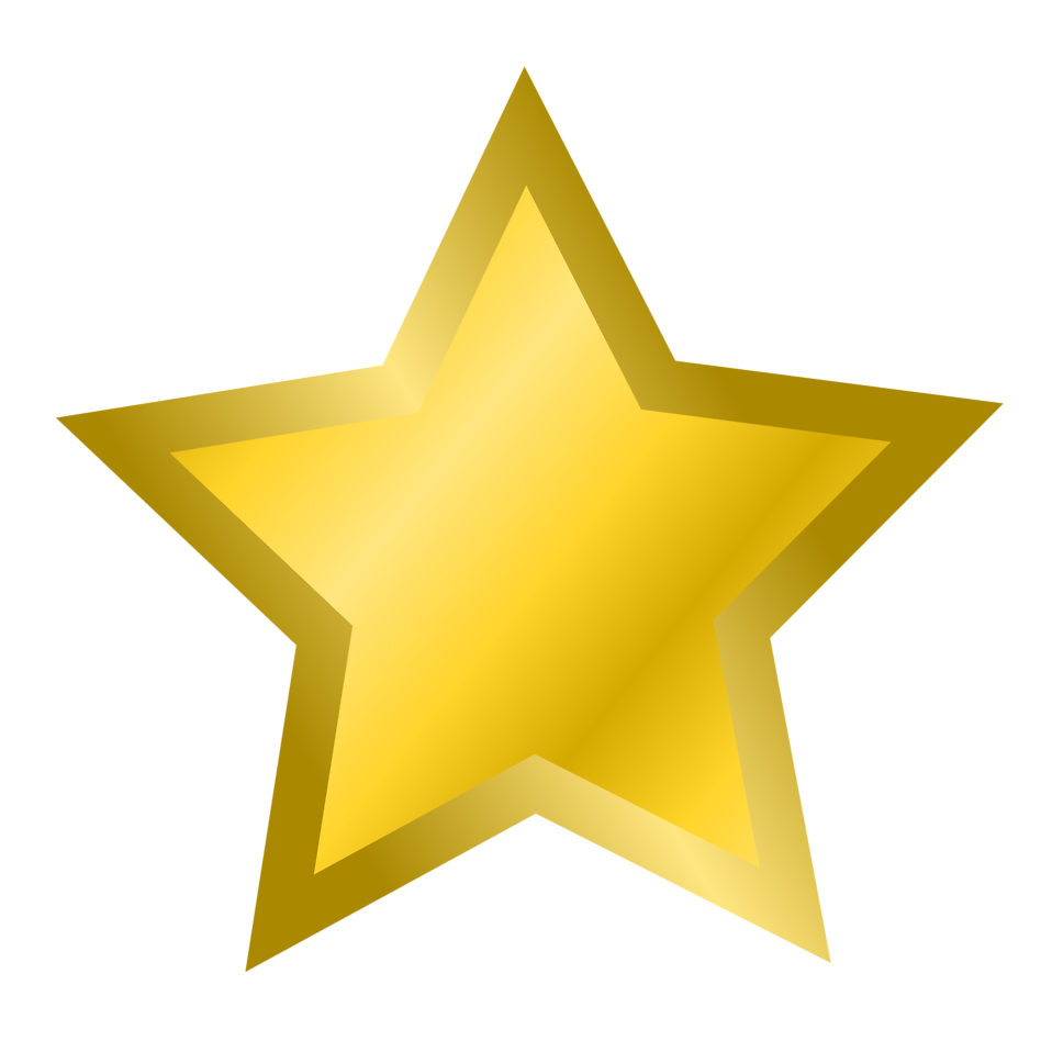 Illustration of a gold star : Free Stock Photo.