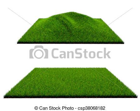 3d grass on white background.