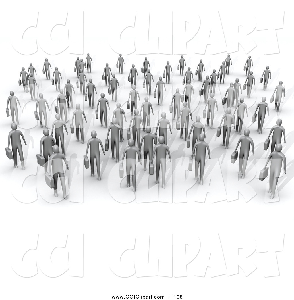 Gray people clipart.