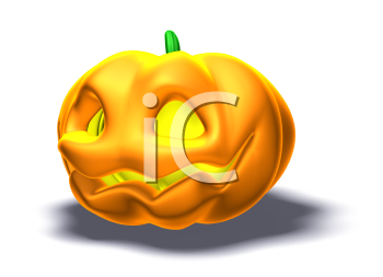Royalty Free 3d Clipart Image of a Pumpkin.