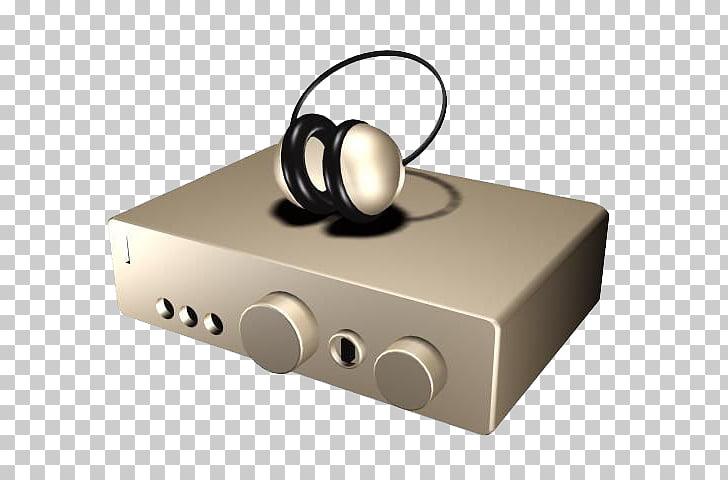 Headphones 3D computer graphics Audio equipment , Cartoon.