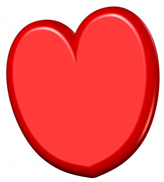 3d Heart Clipart Free Stock Photo.