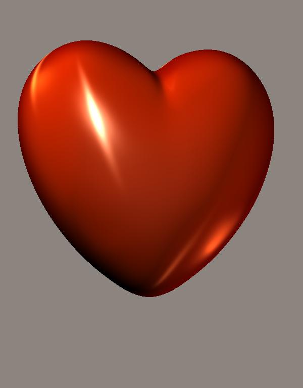3D Red Heart Clipart.