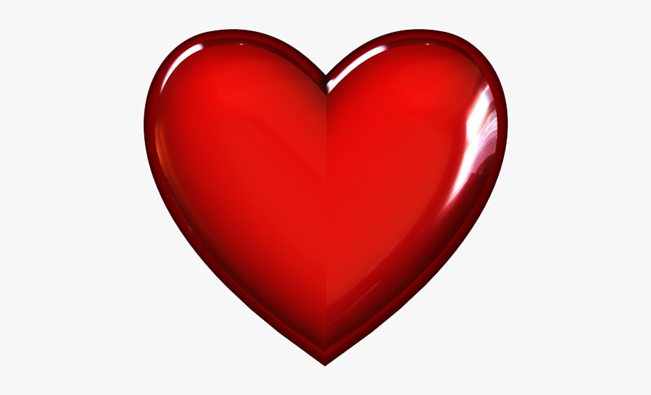 3d Red Heart Png Transparent Image.