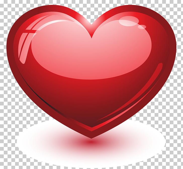 Heart 3D computer graphics , heart PNG clipart.