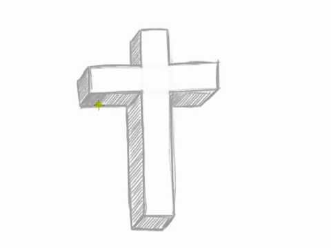 How to Draw a 3D Cross.