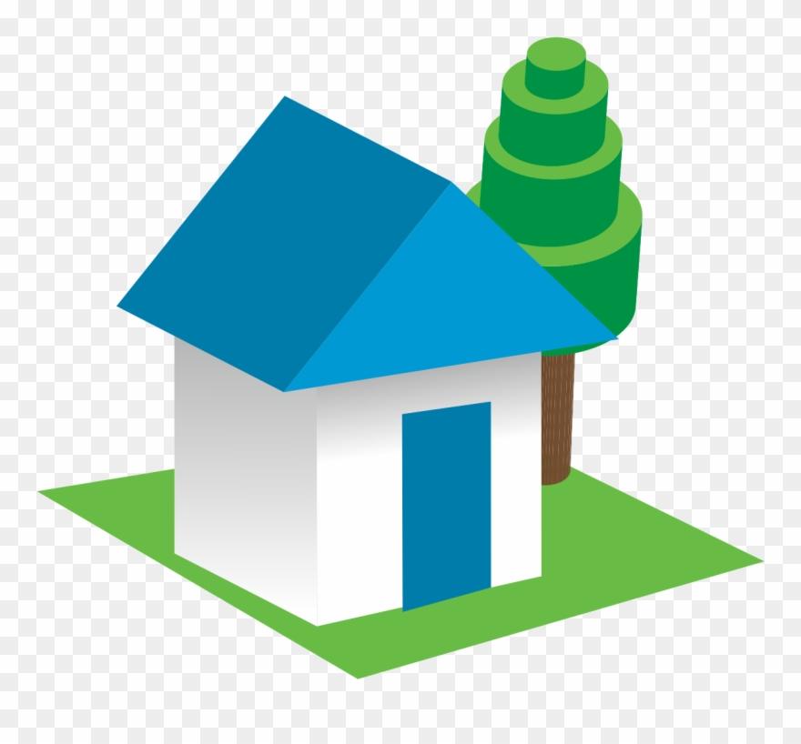 3d House Clip Art.