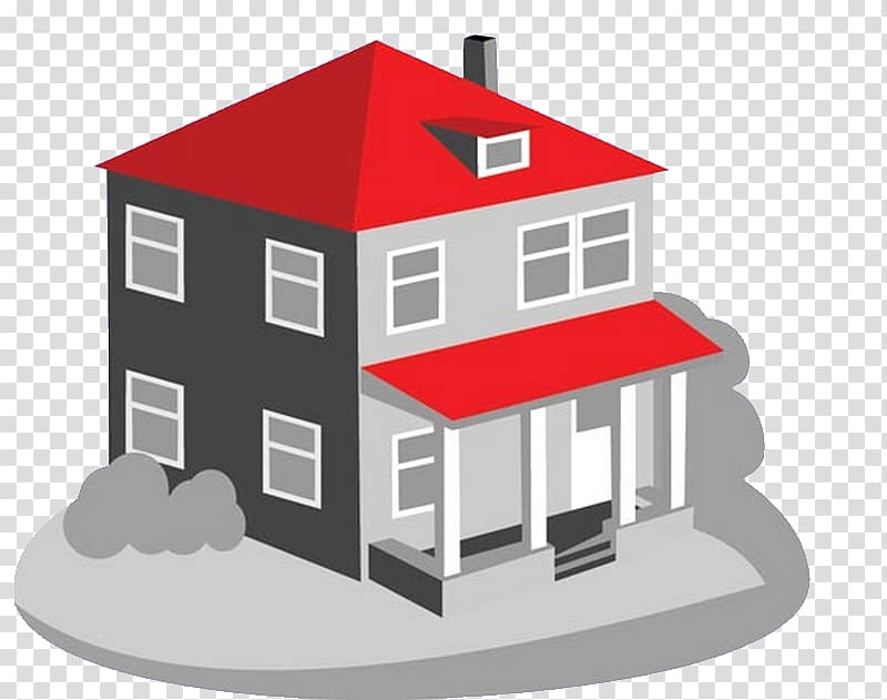 House Drawing, 3d model home transparent background PNG.