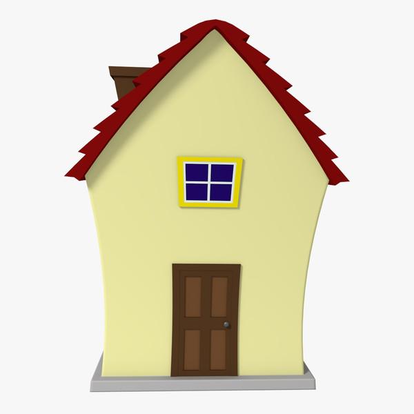 3d model cartoon house.