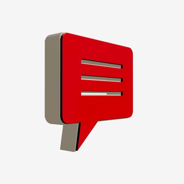 3d Message Icon, Message, 3d PNG Transparent Clipart Image.
