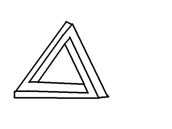 Triangle Illusion: 6 Steps.