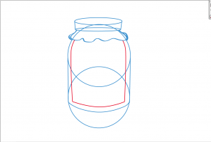 How to draw a Jelly jar.