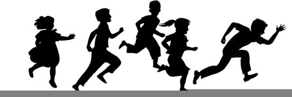 Clipart Of Children Running.