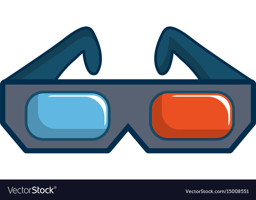 3d cinema glasses icon cartoon style.