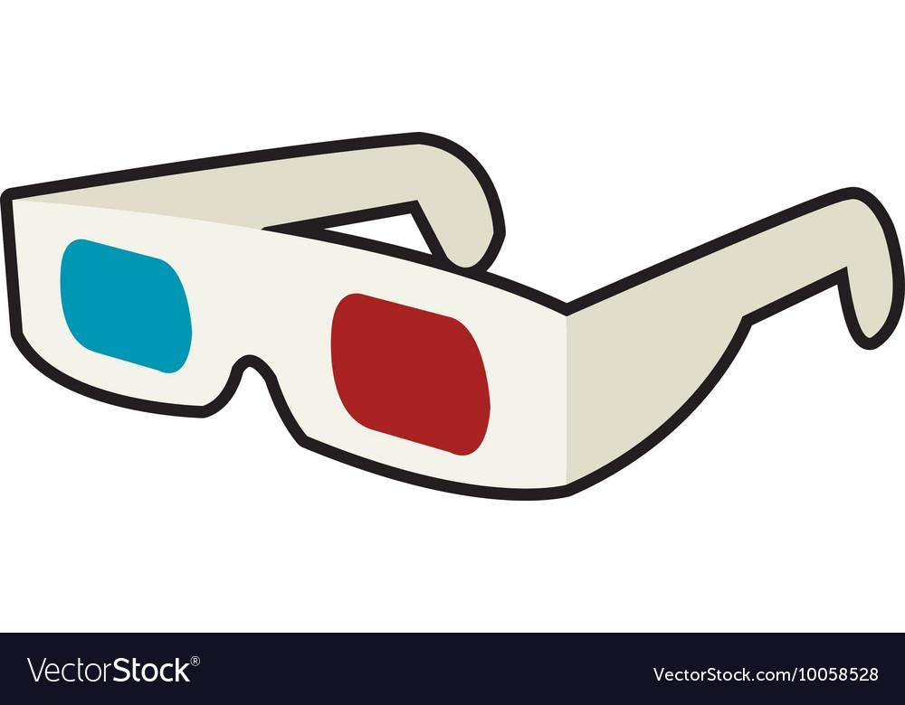 3d glasses icon Cinema design graphic.