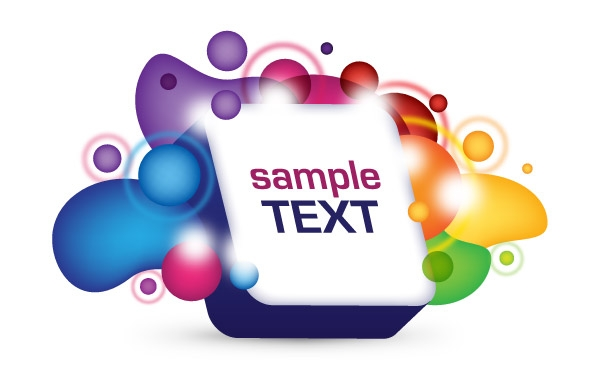 3D Text Box Clipart Graphic.