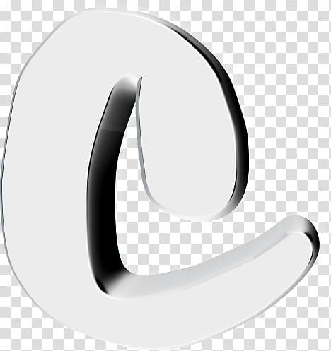 Text D Resources, white letter C transparent background PNG.