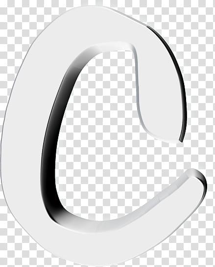 Text D Resources, white C letter transparent background PNG.