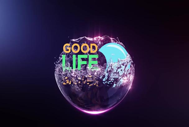 create 3d logo animation video intro.
