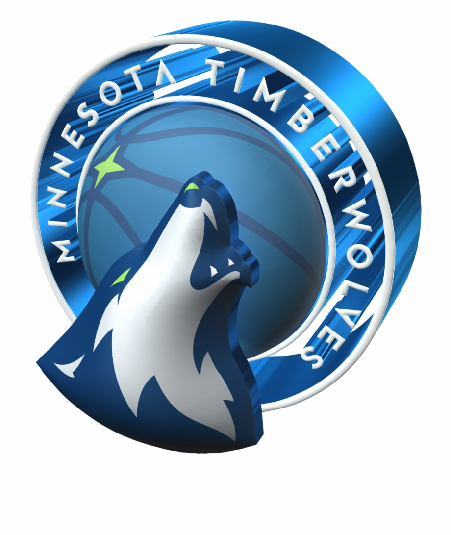 Minnesota Timberwolves 2017 2018 3D Logo Minnesota.