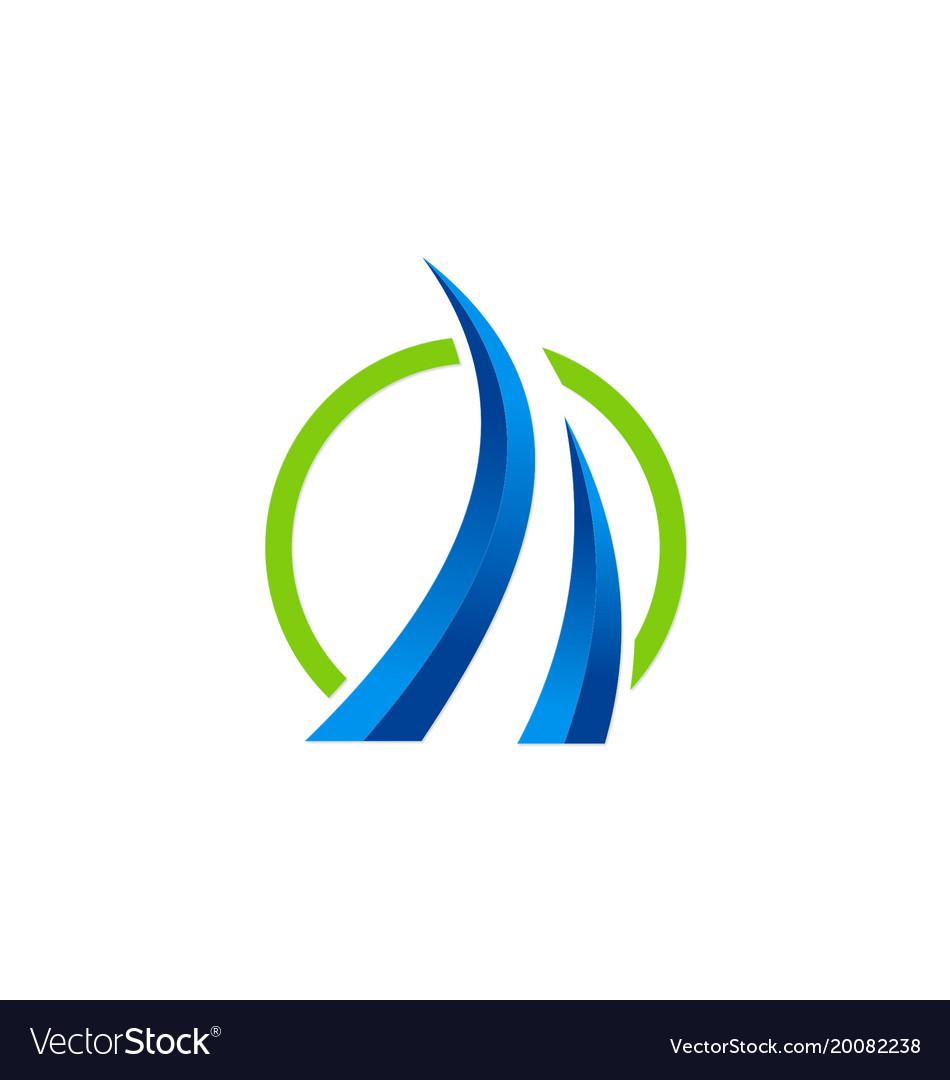 Loop 3d business finance logo.