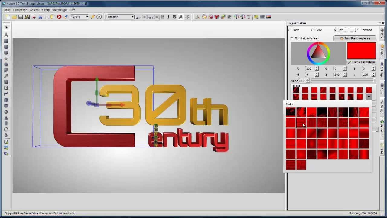 3D Logos erstellen.