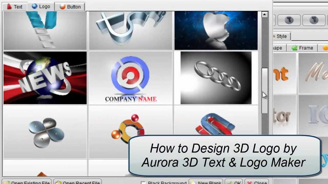 3D Logo Design by Aurora 3D Text & Logo Maker.