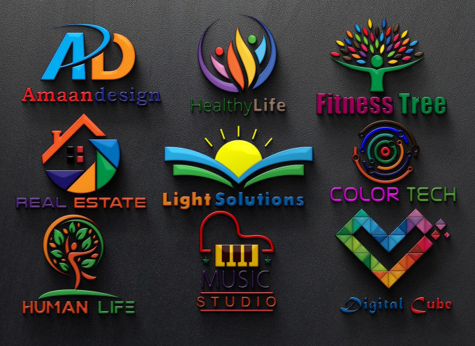 do professional 3d logo design in 10 hours.