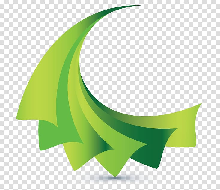 Logo 3D computer graphics Graphic Designer, green abstract.