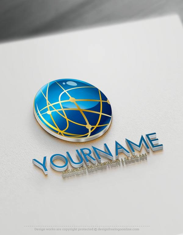 Online Free Logo Maker 3D Logo design.