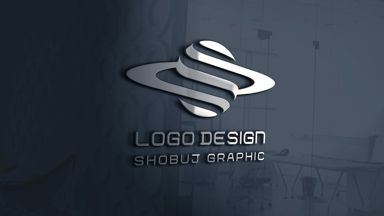 3D Logo Design in Photoshop Tutorial.