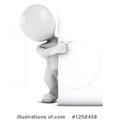 3d White Man Clipart #1258458.
