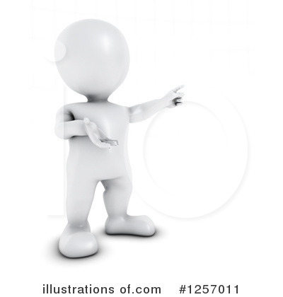 3d White Man Clipart #1257011.