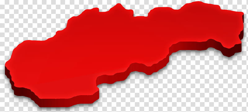Slovakia D Map, red country map transparent background PNG.
